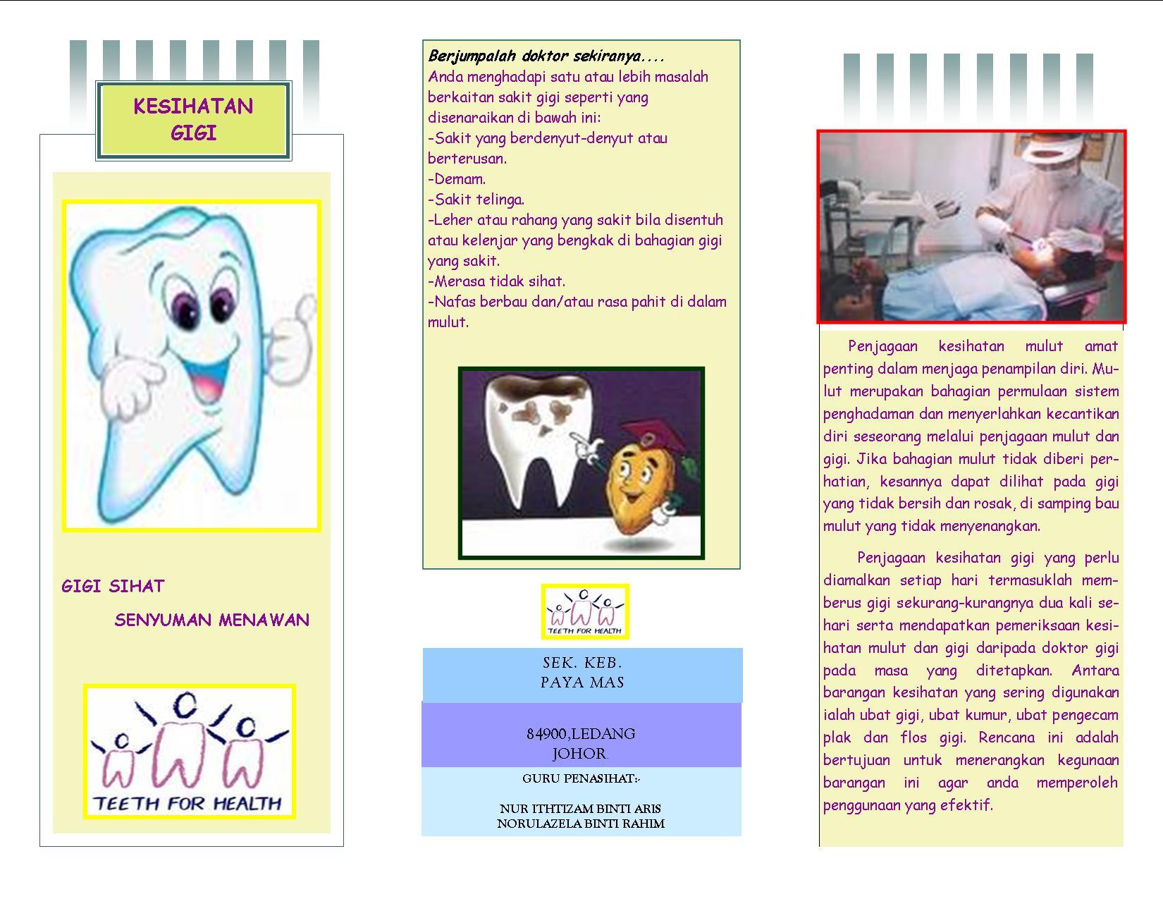 project based learning kesihatan gigi